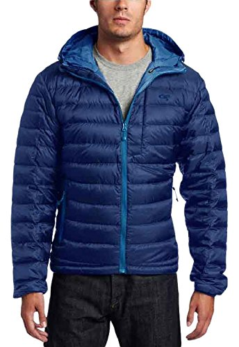 Outdoor Research Men's Transcendent Down Hoody, Baltic/Glacier, Small