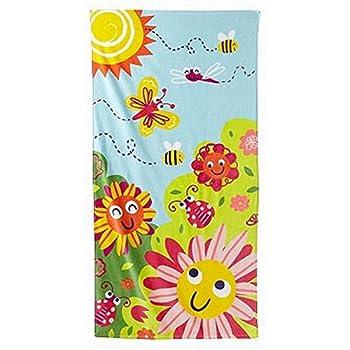 Jumping Beans Butterfly & Flower Plush Cotton Velour Beach Towel 30x60