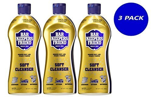 3-PK - Bar Keepers Friend Soft Cleanser for Stainless Steel / Porcelain / Ceramic / Tile / Copper - 13 Oz. - Cleaner Cookware Stainless Steel