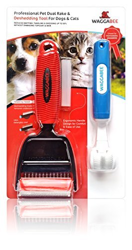 Cat & Dog Deshedding Tool. Reduces Shed Hair & Fur By 95%. This Product Has A Dual Function As it Can Groom As Well As Deshed