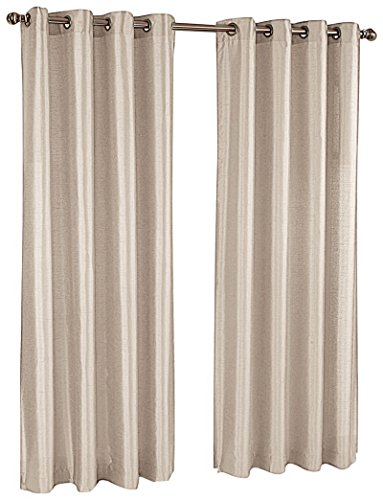Stylemaster Tribeca 56 by 95-Inch Faux Silk Grommet Panel, Sand