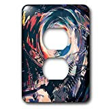3dRose Perkins Designs - Potpourri - abstract and colorful macro digital artwork of a motorcycle engine block - Light Switch Covers - 2 plug outlet cover (lsp_292645_6)