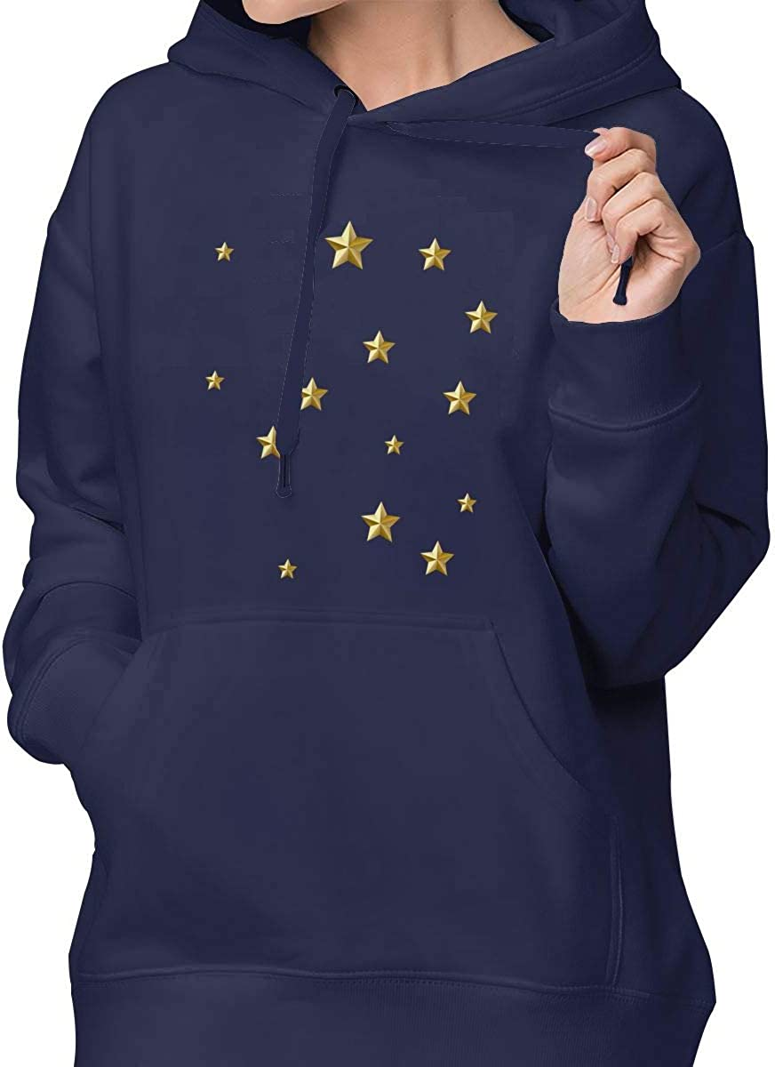 Star Classic Fashion Regular Pocket Sweatershirt Hoodie Sweater for Women XL Navy