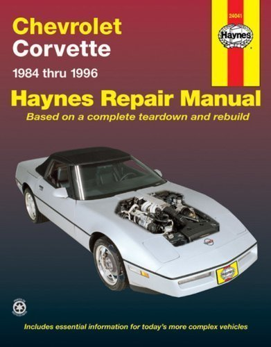 Amazon Chevrolet Corvette 1984 Thru 1996 Automotive Repair