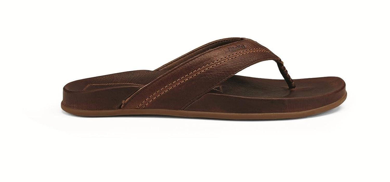 Mohalu - Mens Leather Sandals Dk Wood / Dk Wood - 13