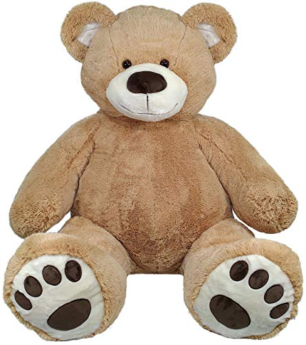 "Anico 59"" Tall (5 Feet) Giant Plush Teddy Bear with Embroidered Paws and Smiling Face, Fits in 2XL Shirt!"