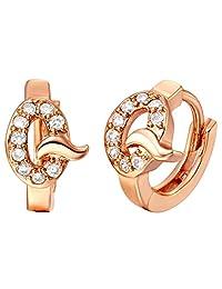 fonk_CA:: TrendyAAA Luxury Zircon Crystaltud Earrings 18K Rose/White Gold Plated JewelryBest Gift R616