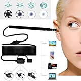 USB Ear Otoscope, Ear Digital Endoscope 3 in 1 Inspection Camera Ear Scope Earwax removal Cleansing Tool with 6 LED Lights 1.3 Megapixels 720P HD for Micro USB,USB-C Android Phone,Windows MAC PC