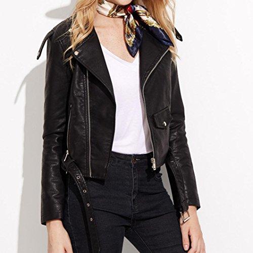 Noir Similicuir Vestes Taille Punk Hiver Perfecto Grande Femme Jacket Manteau Cuir OverDose Vintage 7HB6q