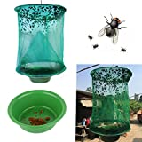 Meiyiu Practical Folding Flycatcher Fly Trap Cage Insect Killer Green 1PCS