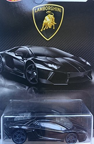 Amazon Hot Wheels 2017 Lamborghini Series Aventador 4 8 Black Toys Games