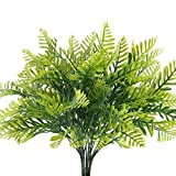 artificial evergreen bushes - Nahuaa 4Pcs Fake Boston Fern Plants Artificial Evergreen Shrubs Faux Plastic Greenery Bushes Bundles Indoor Outdoor Hanging Basket Filler Home Kitchen Table Centerpieces Arrangement Spring Decorations