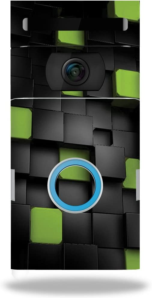 MightySkins Skin Compatible with Ring Doorbell 2 - Cubes | Protective, Durable, and Unique Vinyl Decal wrap Cover | Easy to Apply, Remove, and Change Styles | Made in The USA
