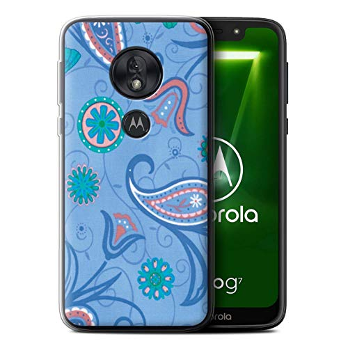 eSwish Gel TPU Phone Case/Cover for Motorola Moto G7 Play/Blue/Pink Design/Springtime Collection