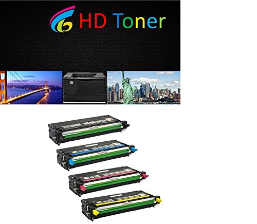 HD Toner Compatible High Capacity Toner For Dell 3110 3115 - 310-8092 310-8094 310-8096 310-8098 - High Yield 8,000 Pages (4 Pack, one of each color)