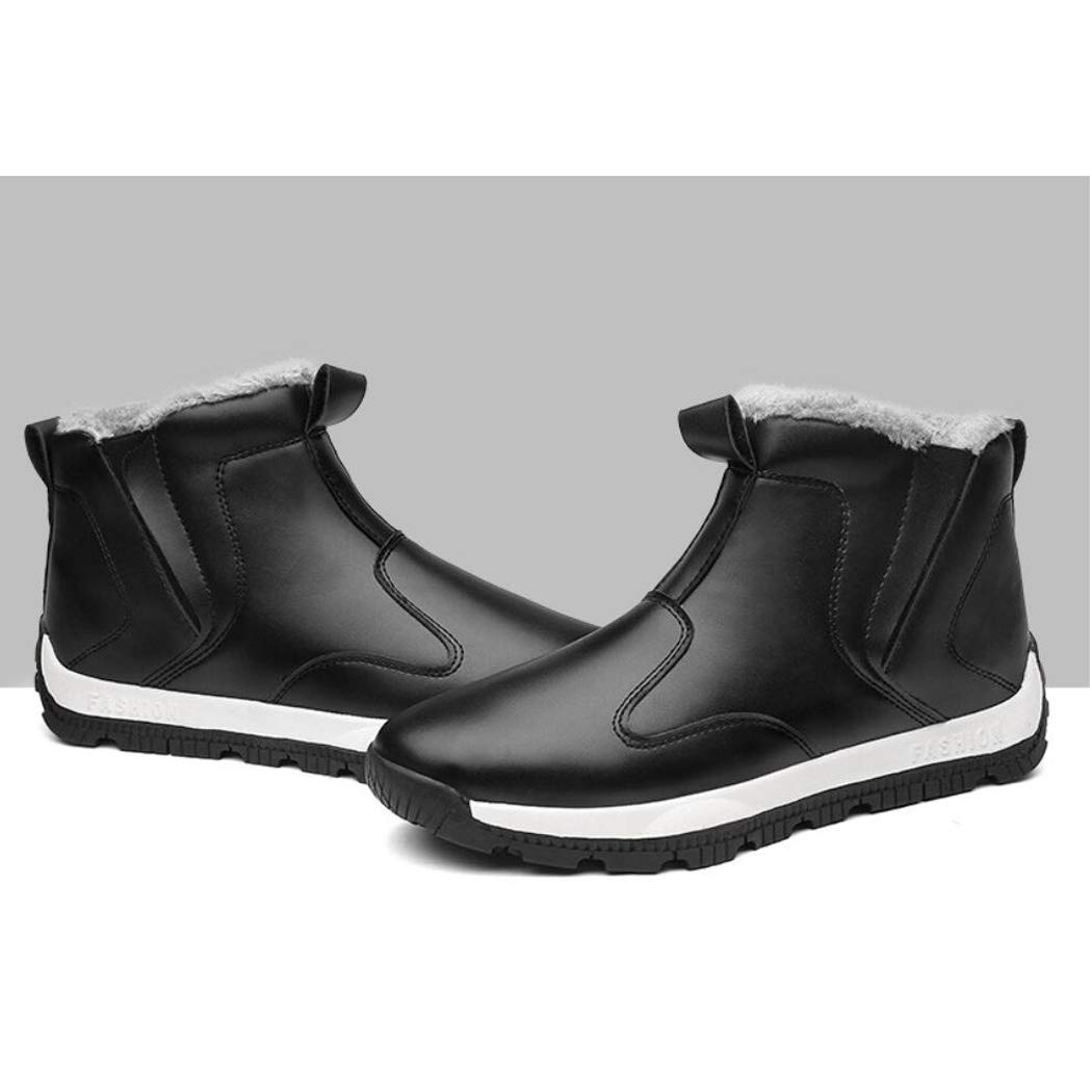 Zxcvb Winter Herren High Hilfe Hilfe Hilfe Plus SAMT Baumwolle Stiefel British Fashion Warm Set Fuß Schnee Stiefel Kreuz 4ecd2a