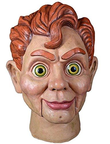 Goosebumps Slappy The Dummy Full Head Mask, Beige Red, (Dummy Costume)