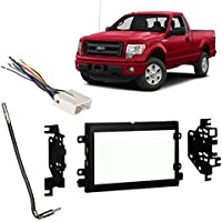 Fits Ford F-150 XL w/o Options 2009-2014 Double DIN Harness Radio Dash Kit