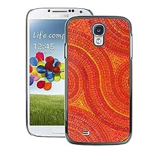 A-type Arte & diseño plástico duro Fundas Cover Cubre Hard Case Cover para Samsung Galaxy S4 (Mosaic Pattern Art Floor Design Stones)