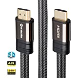 4K HDMI Cable/HDMI Cord 12ft - Ultra HD 4K Ready HDMI 2.0 (4K@60Hz 4:4:4) - High Speed 18Gbps - 28AWG Braided Cord-Ethernet/3D/HDR/ARC/CEC/HDCP 2.2/CL3 - Xbox PS4 PC HDTV by Farstrider
