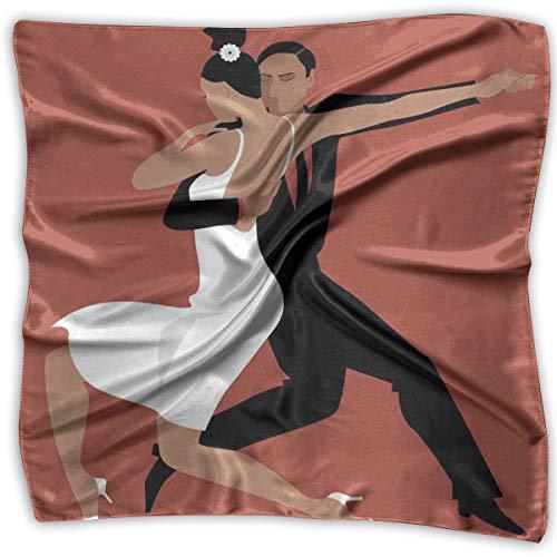Bandana Head and Neck Tie Neckerchief,Latin Couple Performing Tango Argentine Ballroom Romantic Dance Passion,Headband
