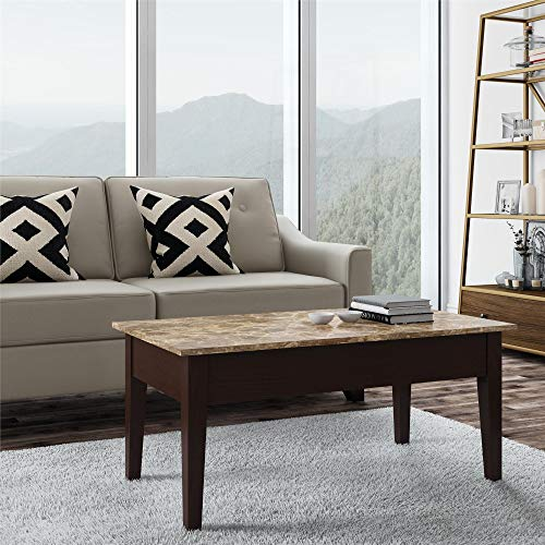 (Dorel Living Faux Marble Lift Top Coffee Table )