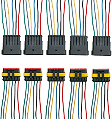 Remarkable Amazon Com Zoneli 6 Pin Way Waterproof Electrical Wire Connector Wiring 101 Capemaxxcnl