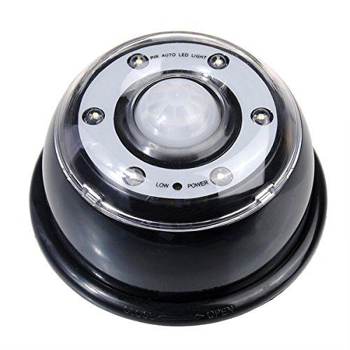 6Bombillas LED PIR sensor detector de movimiento lámpara de luz Negro