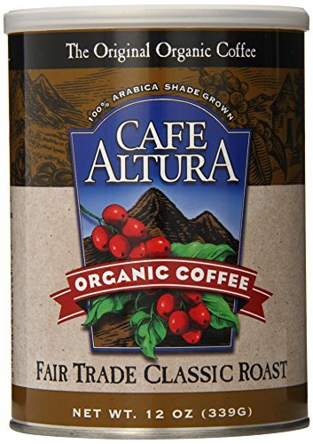 Cafe Altura Organic Coffee, Fair Trade Classic Roast, Ground, 12-Ounce Can (Pack of 3) by Cafe Altura [Foods]