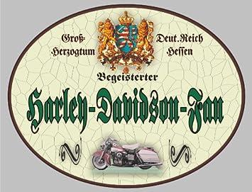Holzschild Harley Davidson Fan Schild Hessen Xxl 36 X 28 Cm