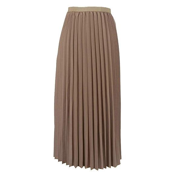 Falda Falda Plisada De Color Sólido para Mujer Falda Plisada con ...