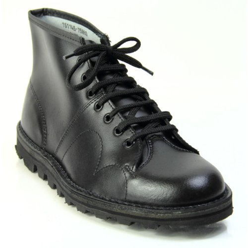 B430A - Leather Lace Up Ankle Boot Black 1wMhWNg
