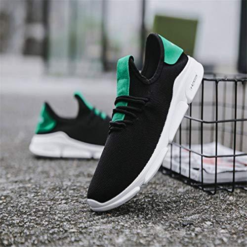 Fondo Ligeros Zapatillas Transpirable Correr Entrenamiento Encaje Zapatos Hombre Calzado Sólido Verde Plano Hombres Para Casual De Con Deportivo Correr qPwrxzqpTO
