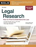 Legal Research, Stephen Elias and Nolo Press Editors, 1413310524