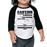 WQ UNIQUE Child Crazy Chihuahua Lady Dog Mom Owner Tri-Blend 3/4 T Shirts Youth Slim Fit