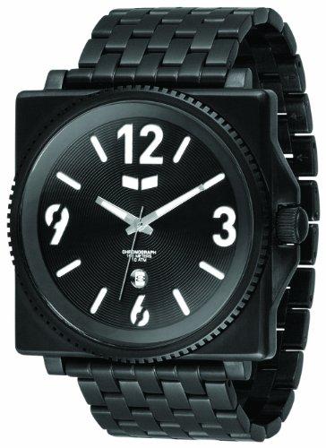 Vestal Men's QDM001 Quadra Metal Black Ion-Plated 7-Link Bracelet Watch