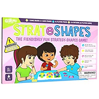 Gotrovo STRATeSHAPES Board Game: fiendishly Fun Game of Logic and Chance - Perfect for Family Game Night - 2-4 Players - New to Our Range of STEM Learning Games - What Will Your Strategy be?