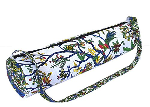 "Indian Handmade Cotton Mandala Hippie Ombre Portable Yoga Mat Carry Gym Bag Shoulder & Handbag Design Women Bag (Size-27""X10"" Strap-45"") With Shoulder Strap Carrier Bags By Panchal Creation PC-01"