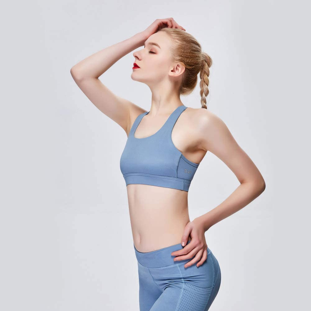 AOOK Sports Shockproof Gathered Bra Yoga Fitness Vest-Style Sports Underwear Female
