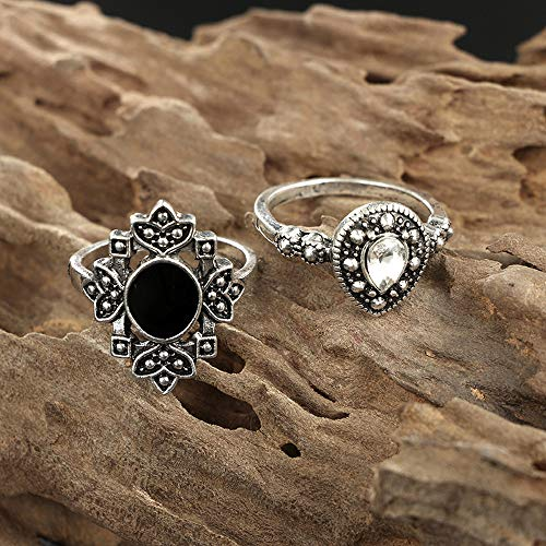 16 PC 2021 Fashion Rings for Women Girls, Personalized Premium Mom Loves You Forever Rings, Diamond Silver Exquisite Wedding Ring Jewelry Gifts Rhinestone Dazzling Ring Gift Size 5-11 (ZT, One Size)