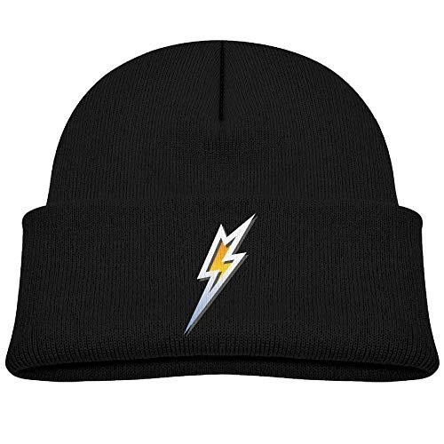 Emerson Bolt - Beanie Hats Wool Skull Cap Silver Lightning Bolt Boys' Girl Baby Soft
