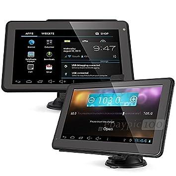 7 Pulgadas GPS y Android 6.0 Tablet para camiones, coches, Front, wohmobil,