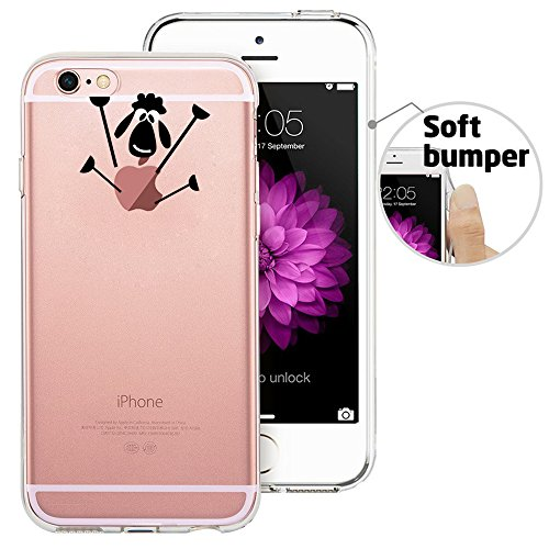 iPhone 6 Case, iPhone 6S Case, Doramifer Funny Series Protective Case [Anti-Slip] [Good Grip] [Ultra Thin] with Aesthetic 3D Print Soft Back Cover for 4.7 inch iPhone 6/6S (Little Lamb)