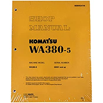 komatsu wa380 6 wheel loader service repair manual operation maintenance manual download