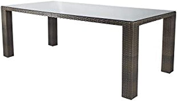 Amazon Com Source Furniture Rectangular St Tropez Dining Table With 8 Seats Espresso Tables