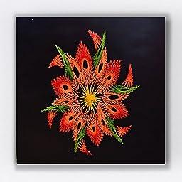 Geometric Flower String Art