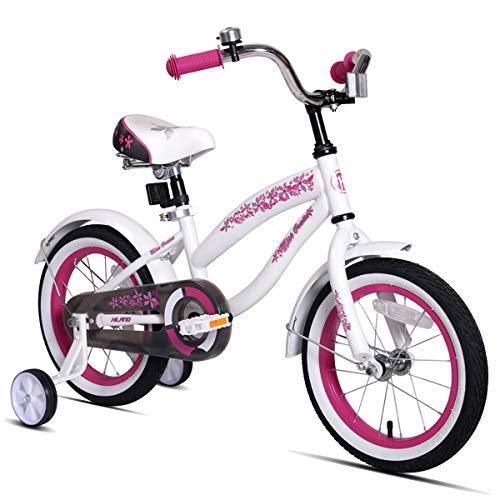 JOYSTAR 16 Inch Kids Bike with Coaster Brake & Training Wheels for 4 5 6 7 Years Old Girl 41-53˝ Tall, 85% Assembled (Brakes Bikes Coaster)