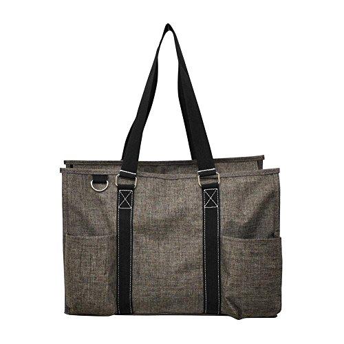 NGIL All Purpose Organizer Medium Utility Tote Bag 2018 Spring Collection (Crosshatch -