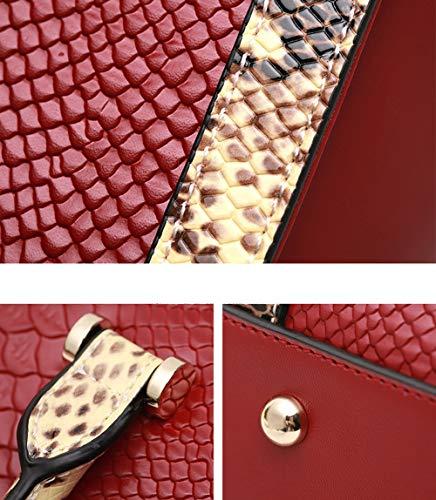 Alta In Garanzia Donna Qualità Qualità Fodera Serpente Materiale Nobie Tracolla b A Di Borsetta Vacchetta Borsa Goffratura 7g6q68Tn