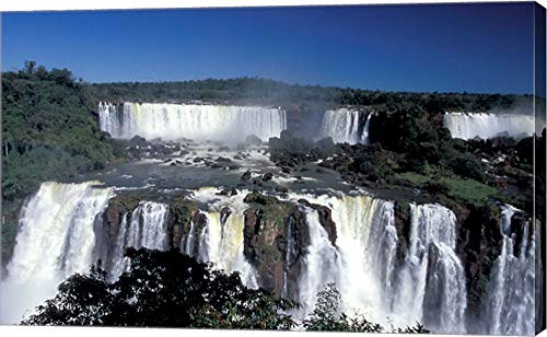 Iguacu National Park - Foz Do Iguacu, Iguacu National Park, Parana, Brazil by Julie Bendlin/Danita Delimont Canvas Art Wall Picture, Gallery Wrapped with Image Around Edge, 23 x 14 inches